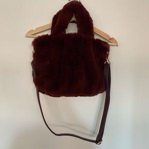 NWOT Free People Dolce Faux Fur Purse